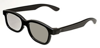 Black Plastic polarized 3D